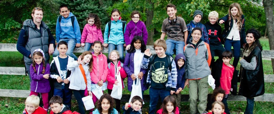Sukkot Apple PIcking Kids
