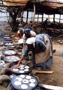 ethiopian matzo making