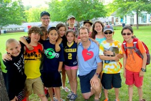 Darren at Camp with heart photo